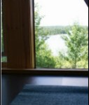 View of Japer Lake from upstairs Yoga space
