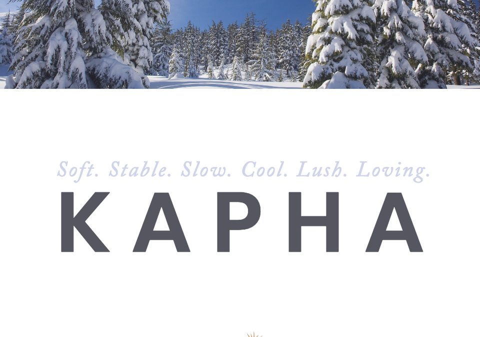 Kapha is Coming by Zach Zube