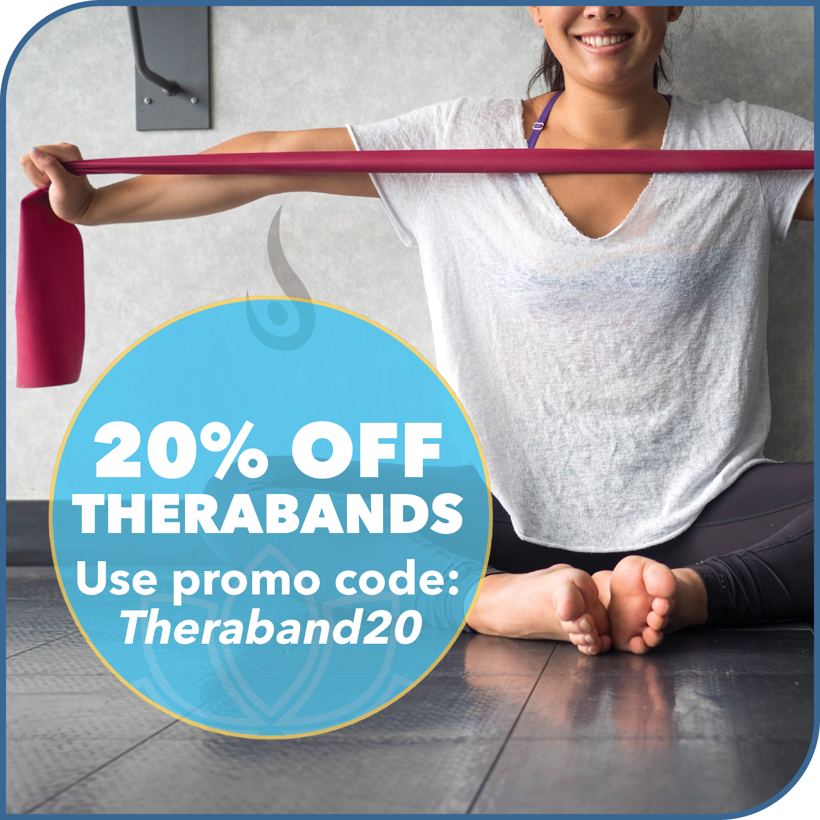 Yoga North September Special 20% off Therabands